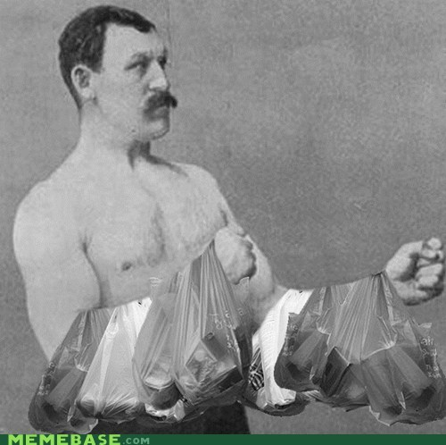 manliest man grocery bags groveries - 6808809728