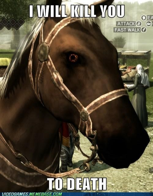 scary,dead,assassins creed,horses