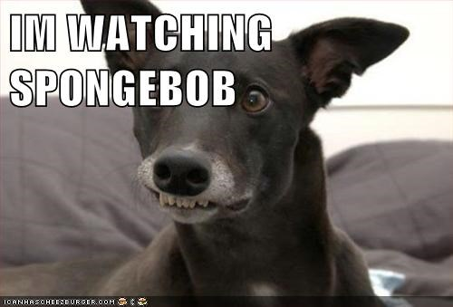 IM WATCHING SPONGEBOB