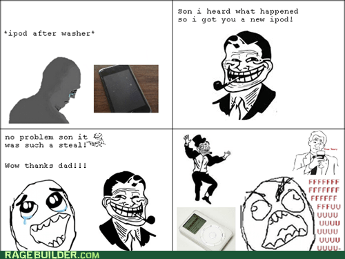 ipod,retro,troll dad,true story,FUUUUU