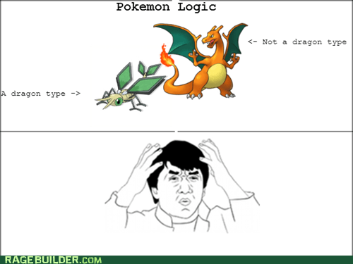 Pokémon video game dragons my mind is full logic