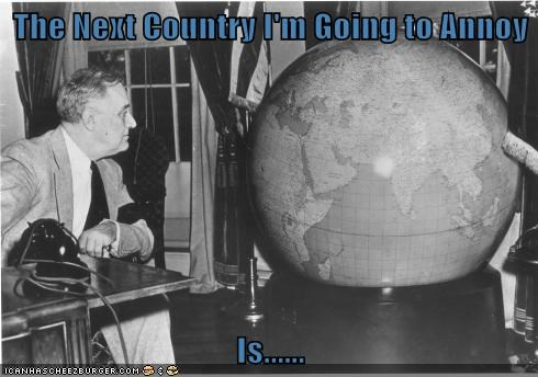 world franklin roosevelt globe FDR - 6809710080