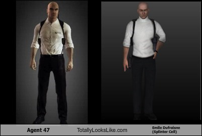 Agent 47 Totally Looks Like Emile Dufraisne (Splinter Cell)