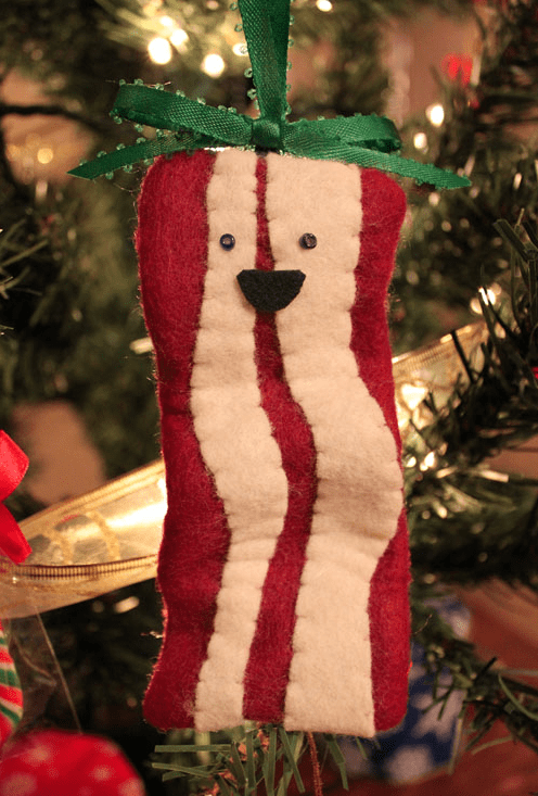 christmas,ornaments,DIY,bacon