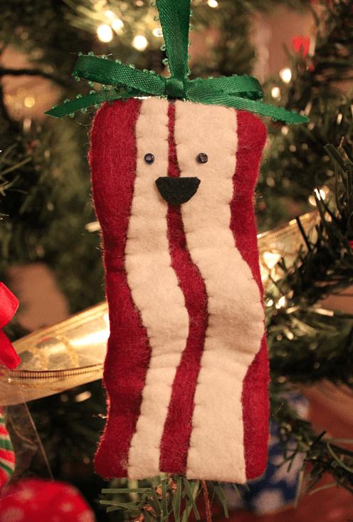 christmas ornaments DIY bacon - 6811233024