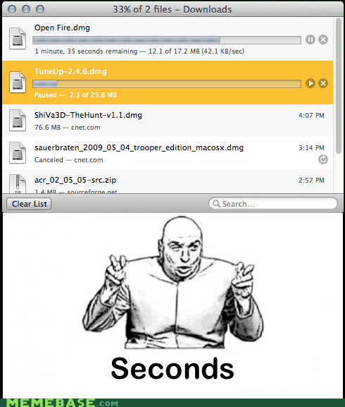 dr evil,seconds,downloads
