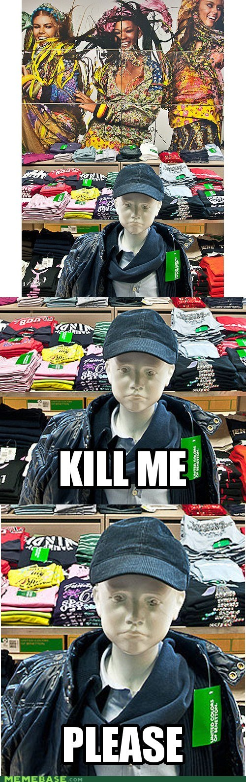 kill me now,mannequin,cloths,mercy,store