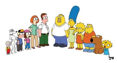 family guy,simpsons