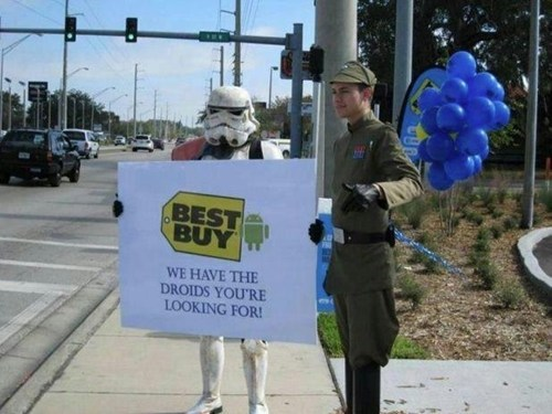 best buy,star wars,droids,android phone,blockbuster,star wars 7