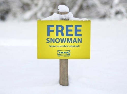 ikea free snowman snowman monday thru friday g rated