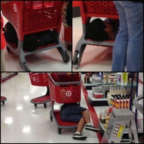 shopping,napping,Target