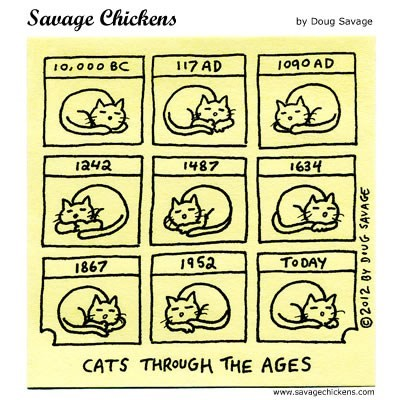 illustrations,history,comics,sleeping,through the ages,Savage Chickens