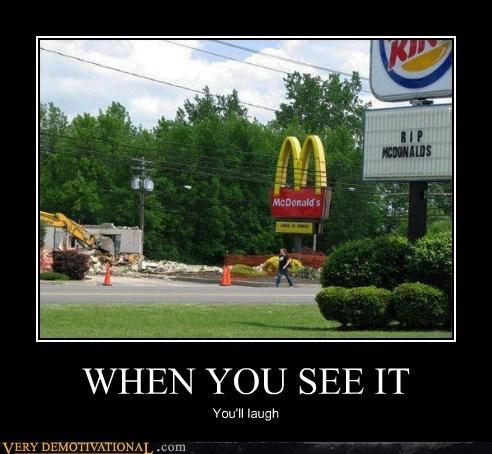 sign McDonald's burger king - 6813015808