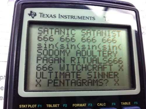 satanic,pentagrams,calculator