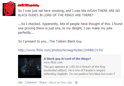worth it,surname,Lord of the Rings,longform,homophone,jrr tolkien,token black guy,token