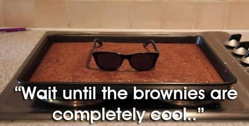 cool,sunglasses,attitude,brownies,literalism,temperature,double meaning,classic
