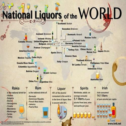 travel freak drinking around the world national liquors - 6813191168
