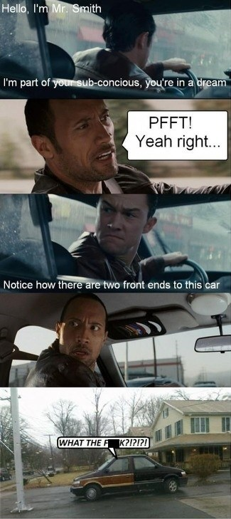 dream,front end,Inception,car,the rock
