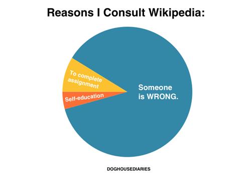 internet arguement wikipedia Pie Chart
