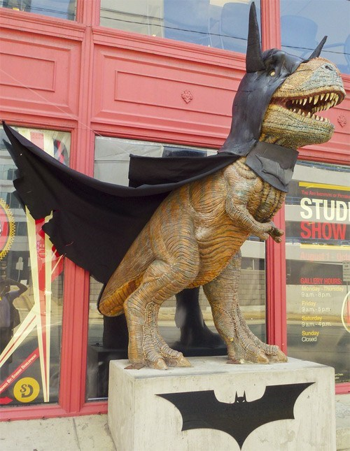 costume t-rexes dinosaur batman the dark knight