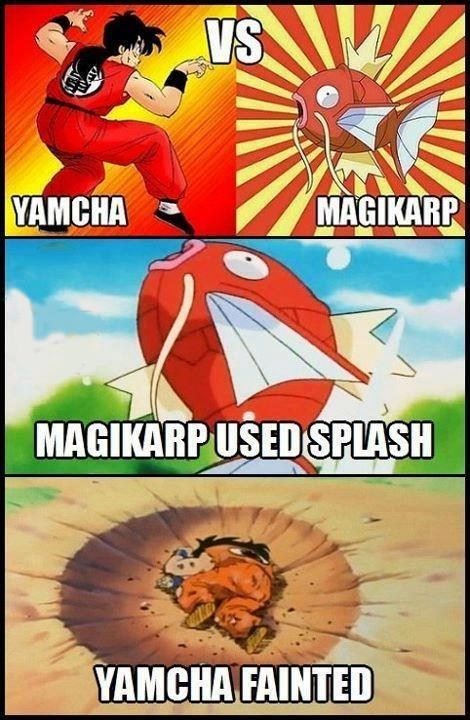 magikarp,splash,yamcha,anime,comic