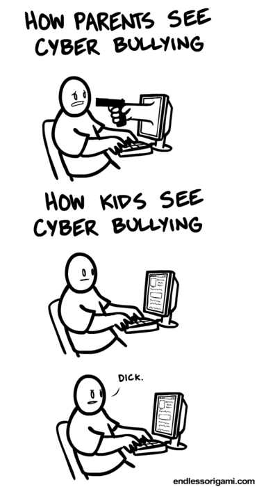 kids vs parents cyber bullying - 6813360896