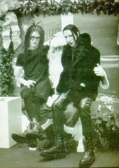 christmas,marilyn manson,santa,funny,g rated,sketchy santas