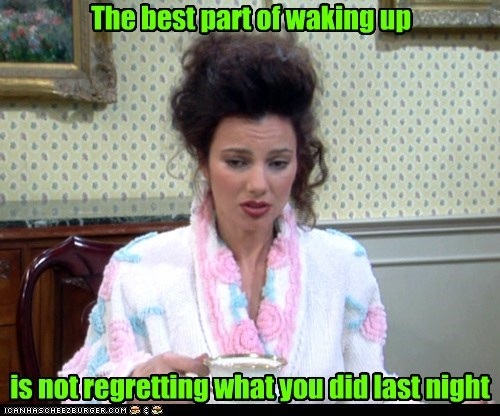 commercial,fran drescher,slogan,regretting,waking up