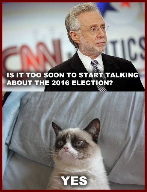 shut up cat 2016 angry wolf blitzer no election tard yes - 6813498368