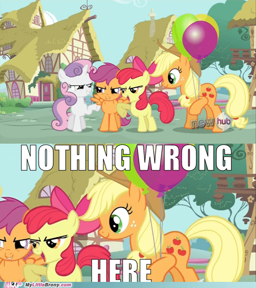 applejack,fillies,evil laugh