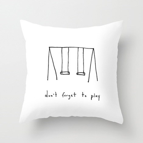 Pillow,swingset,gift guide,artist,marc johns