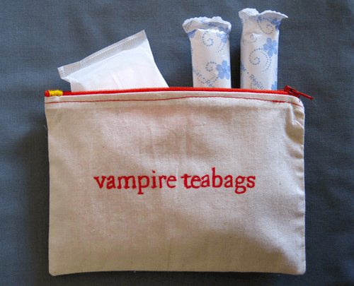 bag Blood gross vampires tampons - 6813764352