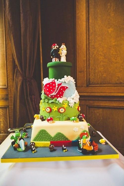 cake fondant pipe mario intricate - 6813771776