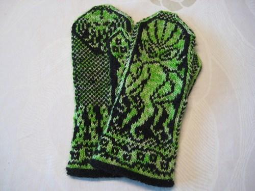 mittens pattern DIY kntting cthulhu - 6813773824