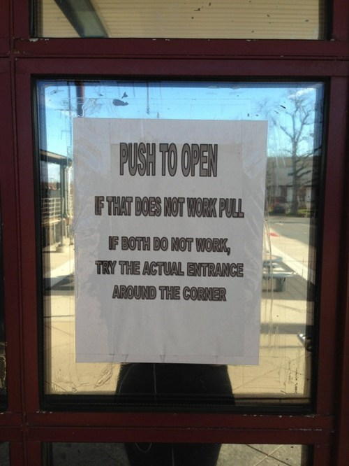door sign push prank Hall of Fame best of week fail nation g rated - 6813815552