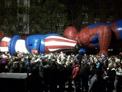 Balloons parade human centipede Spider-Man fail nation Hall of Fame best of week