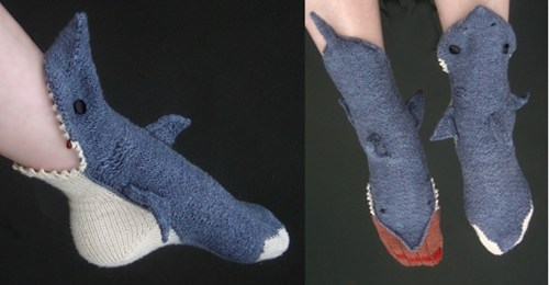 socks attack sharks silly - 6813827840