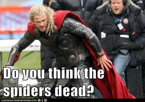 spiders Thor hammer The Avengers mjolnir dead chris hemsworth
