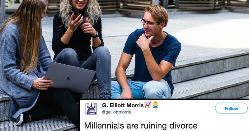 studying twitter marriage millennials divorce social media trends reaction - 6813957