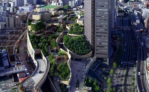 roof,garden,design,cityscape,osaka