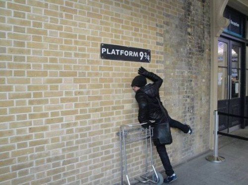 sign Harry Potter nerdgasm platform nine and three quarters - 6814369280