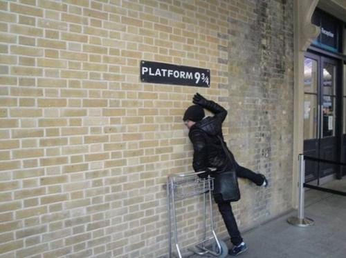 sign Harry Potter nerdgasm platform nine and three quarters