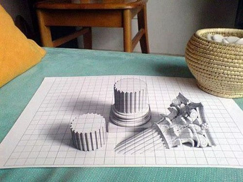 drawing art perspective illusion - 6814370304
