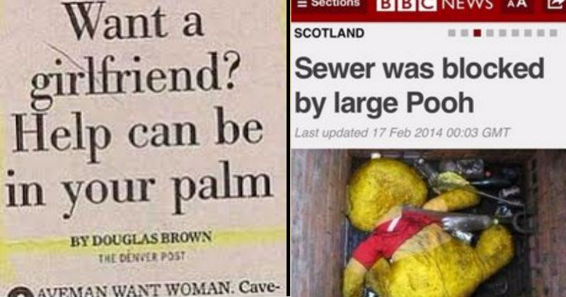 news clever inappropriate strange double entendre wacky silly dumb headlines dirty funny stupid winnie the pooh - 6814469