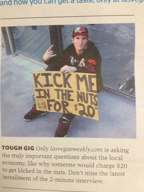sign,busking,kick me,economy