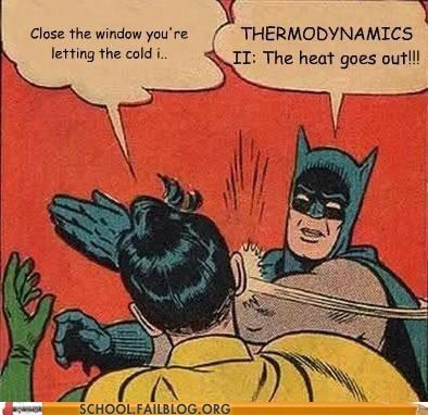Heat cold thermodynamics batman science