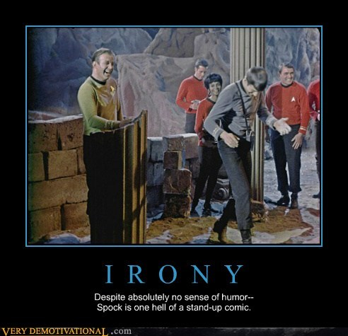 Spock,Star Trek,irony