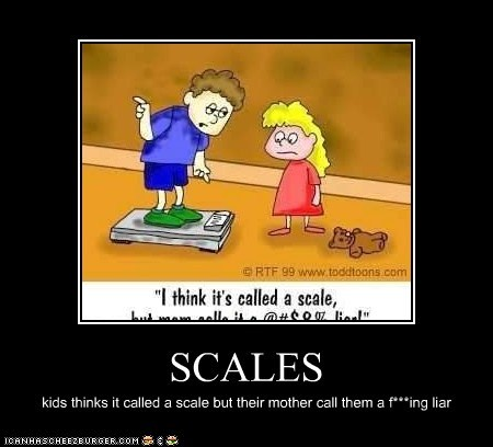 SCALES kids thinks it called a scale but their mother call them a f***ing liar