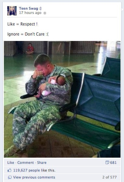 baby,military,facebook,Father