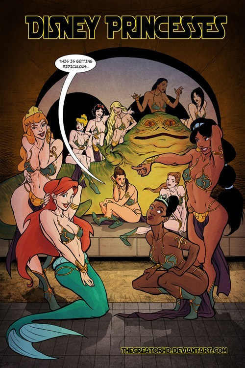 slave leia star wars disney princesses jabba the hutt Princess Leia - 6815324672